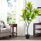125Cm Large Potted Tree Artificial Realistic Banyan Plant In/Outdoor Garden Faux