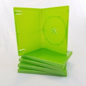 Microsoft Xbox 360 Empty Replacement Game Cases Opaque Green Set Lot Of 5