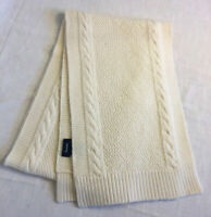 French Fashion House Faconnable ivory knit scarf  - alpaca & wool - pre-owned