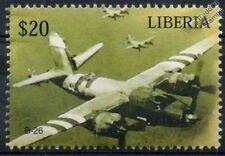 USAAF Martin B-26 MARAUDER D-Day Livery Aircraft Stamp #1 (Liberia)