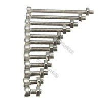 10Pcs/50pcs Metric Thread M3 304 Stainless Steel Hex Socket Head Screw Bolt Nut