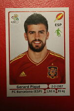 Panini EURO 2012 N. 290 ESPANA PIQUE NEW With BLACK BACK TOPMINT!!