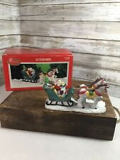 Christmas Dickens Collectables Vintage Hand Painted Santa's Sleigh Excellent