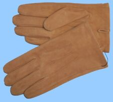 NEW MENS size 8.5 or Med TAN-LION BROWN SUEDE UNLINED LEATHER GLOVES shade10503