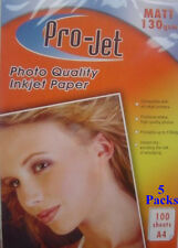 A4 MATT INKJET PHOTO 130 gsm PAPER 500 Sheets Compatible with all Inkjet Printer