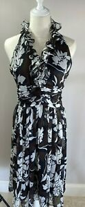 Coco Collection Ruffle Neck Halter Dress - Size 12 - BNWT