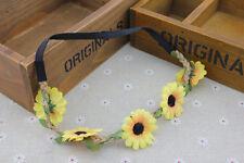 Woman Boho Hippy Headband Floral Bridal Hair Band Crown headband Daisy Flower