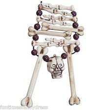 Halloween cannibale Os Crâne Collier Homme Des Cavernes VOODOO sorcière robe fantaisie