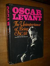 The Unimportance of Being Oscar by Oscar Levant With Photos HCDJ 1968
