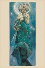Mucha - Moon - Brand New French Art Maxi Poster 91.5 x 61cm