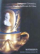 SOTHEBY'S European Ceramics, Dutch Delftware & Glass