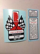Tecumseh 5-hp 197cc decal H50 Kart Mini Bike Go Kart Flags T50