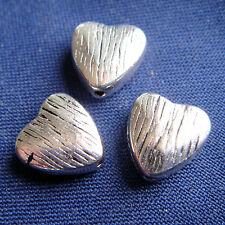 14 pz - Perline in argento tibetano - 8 x 8 mm