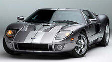 "FORD GT 40 SVT SUPER CAR  43"" x 24"" LARGE HD WALL POSTER PRINT NEW."