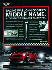 2008 Mini Cooper John Works Race Original Advertisement Print Art Car Ad J399