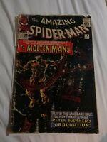 AMAZING SPIDER-MAN #28 ORIGIN & 1ST MOLTEN MAN! Sept 1965 Fair/Good