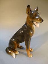 Schäferhund Porzellan Figur Tier Hund naturgetreu um 1958 groß 26 cm hoch
