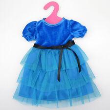 Handmade robe poupée vêtements pour 18 pouces girl doll bleu
