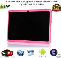 7 Inch Multi-color WIFI SIM Quad Core Tablet PC HD Bluetooth Android 4.4 8GB Lot