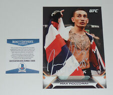 MAX HOLLOWAY SIGNED AUTO'D UFC 2016 TOPPS KNOCKOUT 5X7 CARD #/49 BAS COA 218 212
