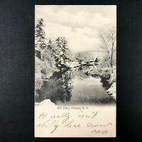 Mill Dam, Hobart, N.Y. NY Postcard 1907 Publisher C.E. Hanford Made in Germany