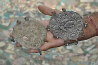 2 Pc Old Brass Handcrafted Lion Embossed Horse Pendant/Jewellery
