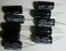 4700 Uf, 25v Radial Electrolytic Capacitor. Lot of 10