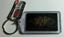 AS-IS ACDC AC/DC BROWN LETTERS BLACK MUSIC KEY CHAIN KEYCHAIN