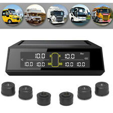 LCD Display Tyre Pressure/Temperature Monitoring System & 6 AntiTheft Sensors