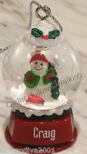Personalized Snow Globe Ornament - Craig - FREE Shipping