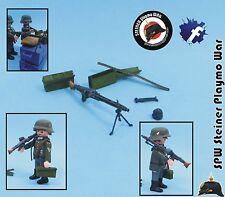 MG 42 + ACCESORIOS AMETRALLADORA  ALEMANIA GUERA MUNDIAL GERMAN WW2  PLAYMOBIL