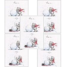 Me to You Christmas Card 5 Pack - Making A Snowman Tatty Teddy Bear Xmas Cards
