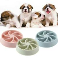 Dog Food Bowl Dish Break Fast Eating Habits Feeder Healthy Slow Feed New Top