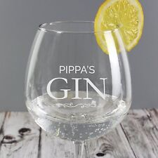 Personalised Large Gin Glass Engraved Name Gin & Tonic Birthday Christmas Gift