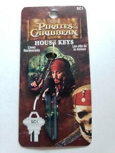 Pirates of the Caribbean Captain Jack Sparrow DISNEY KEY BLANK SC1 Schlage house