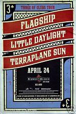 Flagship/Little Daylight/Terraplane Sun 3 Of Clubs Tour San Diego Concert Poster