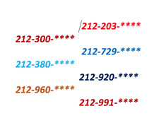 212 Area Code Phone Number in Simcard