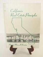 California Real Estate Principles Textbook Hyman Berston 1971 City College S.F.