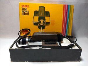 Vintage 70s Kodak XL55 Super8 Movie Film Camera Ektar Original Box FOR PARTS