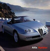 Alfa Romeo Spider Prospekt ital. 2003 4/03 Broschüre brochure Autoprospekt Auto
