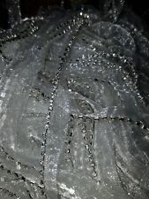 Sew in Rhinestone Trim Tape Bias Silver 1m