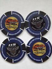 Harley Davidson 115th Anniversary Theil's Wheels Poker Chip(Also Thiel's 40th)