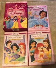 Disney Princess 3-DVD Gift Set Princess Stories 1 & 2 + Party in cases w/ box