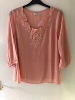 Top Blouse Size Uk 18. Long Sleeve. Peach. By Damart. Any Occasion