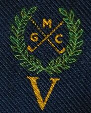 Mold Golf Club Tie Welsh sports crossed clubs crest on Laurel Wreath Wales MGC