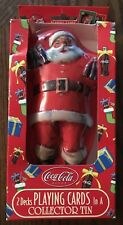 Coca Cola SANTA CLAUS Playing Cards with Collectible Tin 2 Decks of Cards in Box