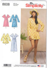 Wrap Dress Jumpsuit Romper Sleeve Variations Ruffles Sewing Pattern 6 8 10 12 14