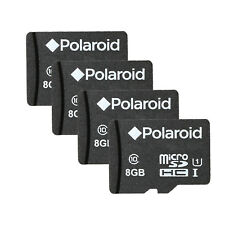 Polaroid 8GB MicroSDHC Class 10 Memory Card for Cameras and Smartphones 4 pack