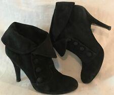 ASH For PED DER RED Black Ankle Suede Lovely Boots Size 39 (163v)