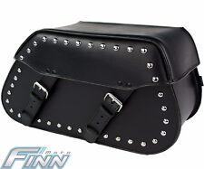 102s Motorcycle Tek Leather Studded Saddle Bags Fits Harley Softail FREE POST
